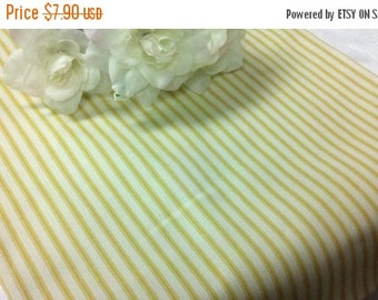 """ON SALE SAMPLE Sale Runner 11x41"""" Yellow and White Table Runner Ticking Fabric 100% cotton vintage pillowcase Wedding Bridal Home Decor"""