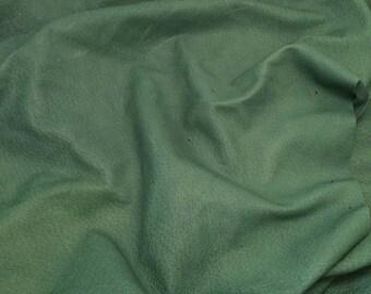 "DARK GREEN Suede Lambskin Leather Hide Piece #9 7x5"""