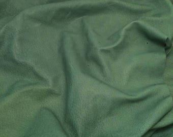 "DARK GREEN Suede Lambskin Leather Hide Piece #4 7x4"""