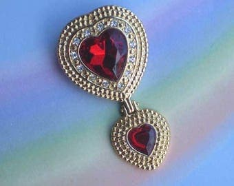 Vintage 80s Victoria's Secret Double Heart Pin