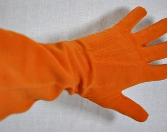 Vintage Crescendoe  Gloves - Orange - Size 6-1/2