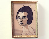 SALE Mini Framed Portrait Giclee Print by Bret Pendlebury FREE SHIPPING