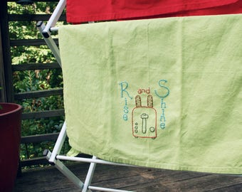 Rise and Shine Embroidered Towel