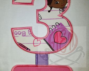 Personalized Doc McStuffins Birthday Patch (2 weeks until stitched and shipped)