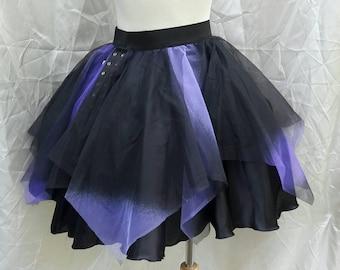 VK Freakshow Halloween goth vampire ombre skirt