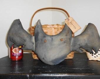 Primitive Folk Art Vampire Bat Door Hangere