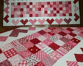 PATTERN: Quilted Hearts Table Runner