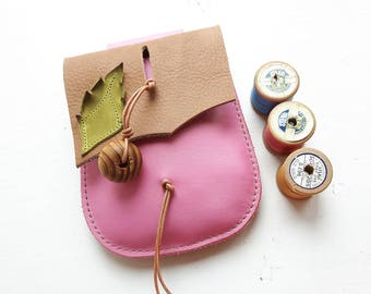 JINKS Belt Pouch, fairy style #3381 Beeswax, Petal pink
