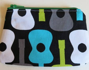 Coin purse in guitar print