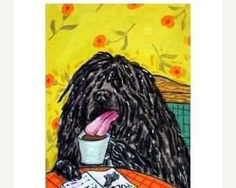 20% off storewide Puli at the Coffee Shop Dog Art Print 11x14 JSCHMETZ MODERN pop art folk art JSCHMETZ abstract