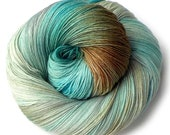 Hand Dyed Yarn Euro Fingering Yarn 820 yards Superwash Merino - Avalon