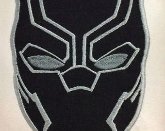 Black Panther Face Applique, Avenger Applique Embroidery Design This is NOT A PATCH!