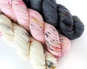 MEOW KIT - Hand Dyed Yarn - Signature Merino Nylon Sock Yarn Fingering - Ready to Ship - Vivid Yarn Studio
