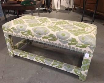 Vintage Upholstered Kilim Rug Bench