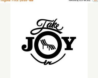 WEEKEND SALE Take Joy In Beach Chair Decal