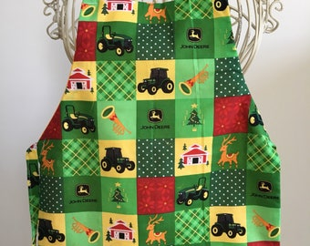 Full Body Apron Smock Children Farm Tractor with NO Pocket