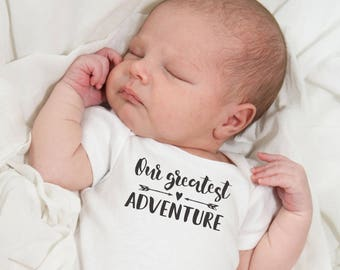 Baby t- shirt - Our Greatest Adventure