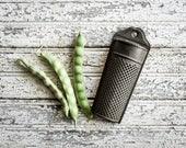 Primitive, Antique, Tin Match Holder, Vintage Match Safe, Collectible Tinware, Kitchen Storage, Country Decor