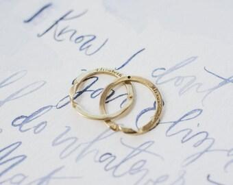 Replica Rings - Alexander Hamilton - Eliza Hamilton - Hamilton Ring - Interlocking Ring - Sterling Silver Wedding Ring - Bronze Wedding Ring