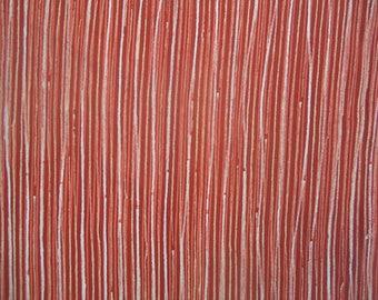 Kimono Silk Persimmon Stripes