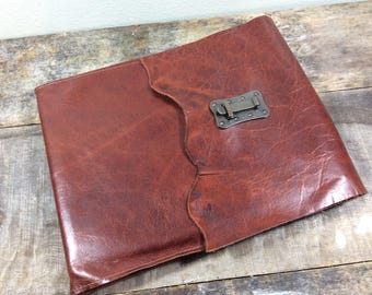 """Refillable Leather Sketchbook landscape 12"""" wide x 9"""" tall"""