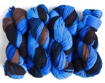 Lonely, Crazy, and Blue, 75/25 Superwash Merino/Nylon Fingering Weight Sock Yarn