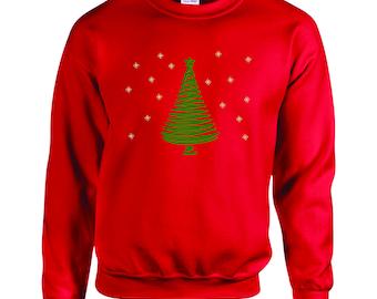 Sequin Christmas Tree Embroidered Sweatshirt