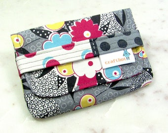 Sanitary Pad Holder, Gray Floral, Period Bag, Period Kit, Pads Pouch, Sanitary Napkins Bag, Period Pads, Tampon Holder, Tampon Case