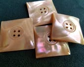 Vintage Buttons - Amazing mother of pearl, 4 matching extra large size square  design(July 146 17)