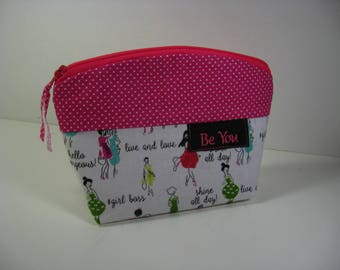 Personalized Cosmetic Bag, Makeup Bag, Inspirational, Gift, Hostess Gift, Pouch