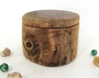 Black Walnut Wood Box, pet urn, wood urn, small cremation urn, cremains keepsake, gratitude box, wood jewelry box, wood jar, valet box