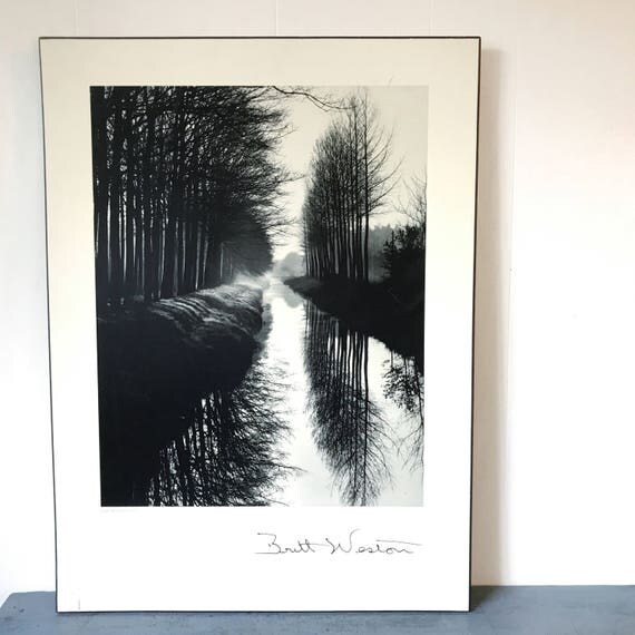 vintage photography poster - Canal Netherlands 1971 - Brett Weston landscape - black white