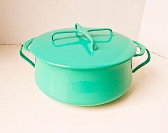 Dansk Casserole, Dansk Pot, 3.75 qt.,  Kobenstyle, Vintage Dansk, Dansk Turquoise Casserole