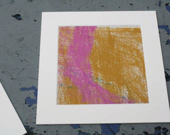 Isolated Moment #33: Original Abstract Painting on Paper