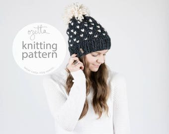 Knitting Pattern / Fair Isle Knit Hat With Pom Pom / THE ALPINE Hat / PDF