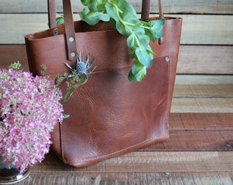 Leather Tote Bag, Leather Bag, Leather Bags women, leather handbag, free shipping, womens leather bag, made in the usa, leather tote, travel