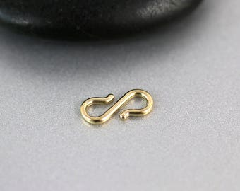 Gold S Clasp - 14k Gold - S Clasp - 11mm