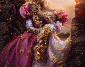 Rapunzel Tangled Upscale Fantasy Sparkle Gown Costume Gown Custom Size