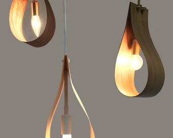 Teardrop Wood Light Pendants