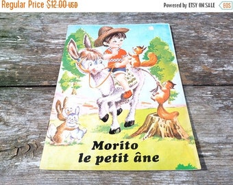 ON SALE Vintage 1970/70s French children's book Morito le petit and
