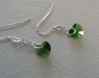 CB 159 Swarovski Fern Heart earrings.