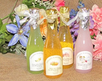 Sparkling Champagne Bubble Bath Assorted Fragrances You Pick Your Fragrance Nature's Scentsations Handmade Big Bubbles 8 Oz Bottle Fun Gift