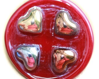 """Button ~ Glass, """"Bimini Type"""", Pictorial, Lampworked, Pressed and Made by KPHoppe ~ Medium or Large"""
