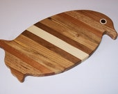 Penguin  Cutting Board Handcrafted from Mixed Hardwoods