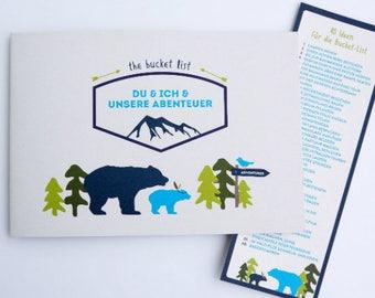 Geschenkbuch Bucket List, Abenteuer, Erinnerungen [DU & ICH – Unsere Bucket List]