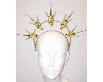 Golden Sun Goddess Halo Crown