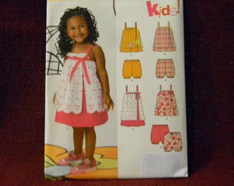 Uncut New Look Pattern 6114 Adorable Dress and Pantaloons for Toddler or Child