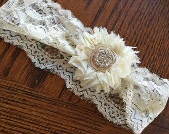 Ivory Lace Baby Headband