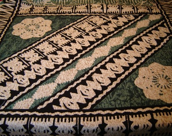 Hawaiiprint  Fabric #90049, OOP Interesting Design, Rare