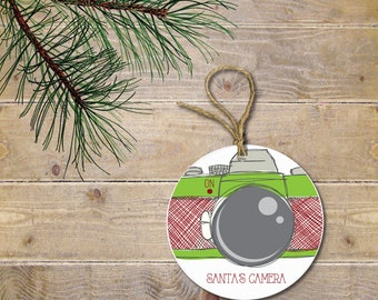 Santa Cam, Santa's Wathing, Santa's Camera, Christmas Ornament, North Pole, Elf on a Shelf, Elf, Camera, Naught or Nice, Gift for Kids